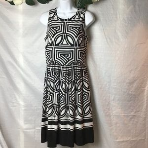 Eliza J Geometric Sleeveless Dress